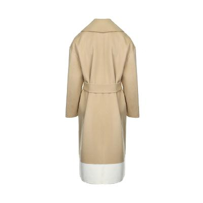 two tone detail trench coat